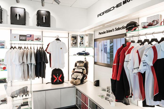 Driver's shop in Porsche Experience Center in California