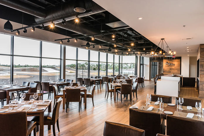 Restaurant in Porsche Experience Center in California