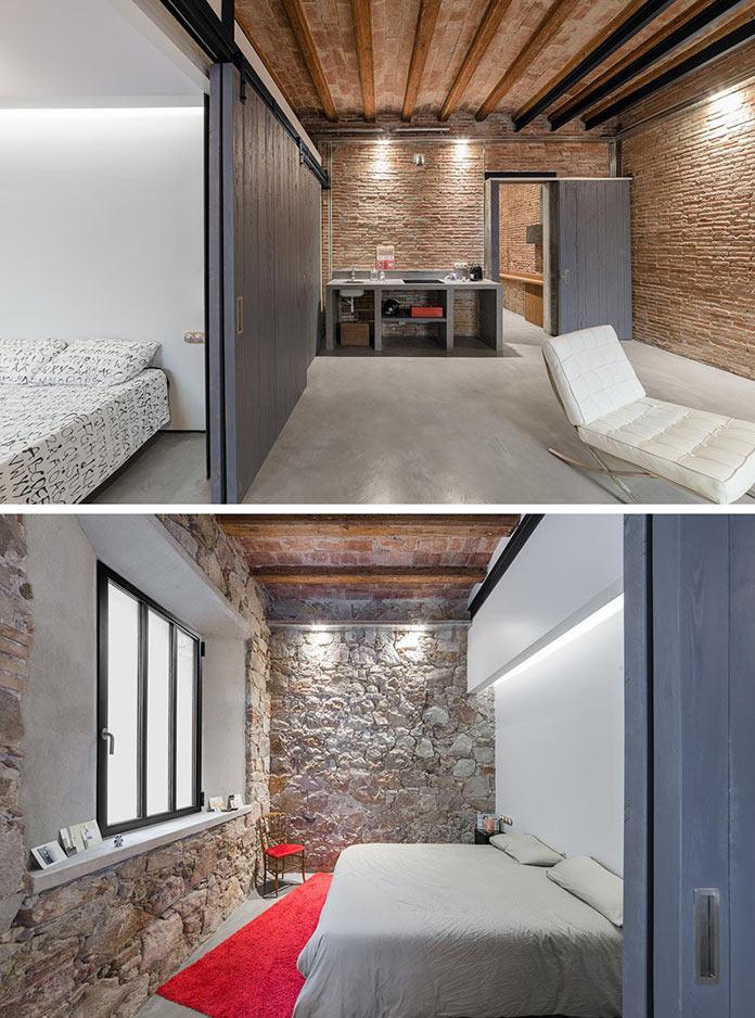 Спальня. Переделка квартиры из столярной мастерской