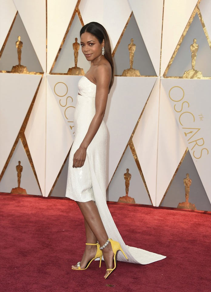 Наоми Харрис на красной дорожке. Оскар 2017