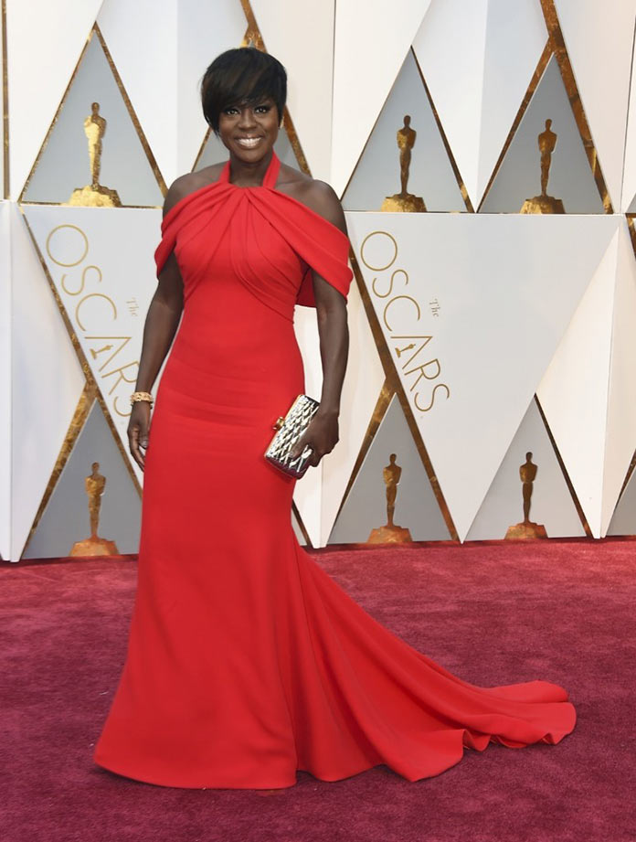 Виола Дэвис на красной дорожке Оскар 2017