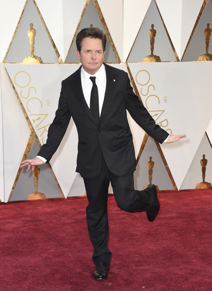 Майкл Джей Фокс на красной дорожке. Оскар 2017