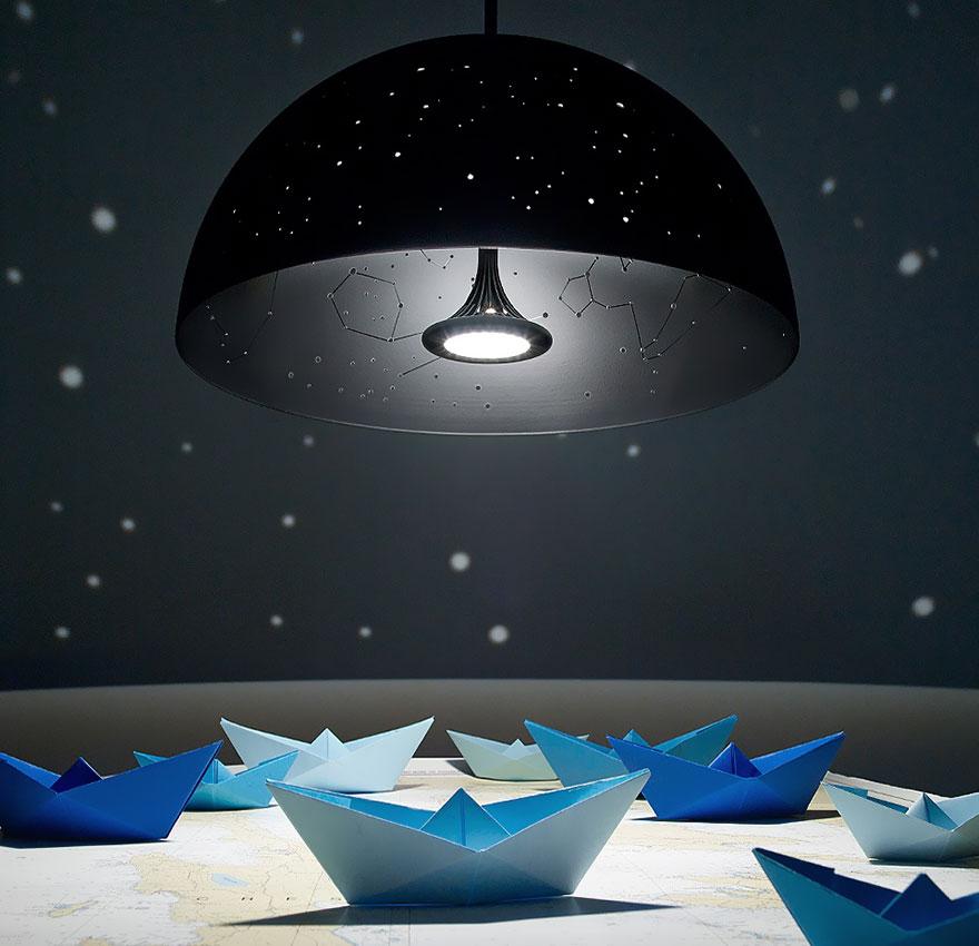 Космическая тема в интерьере - лампа Созвездия