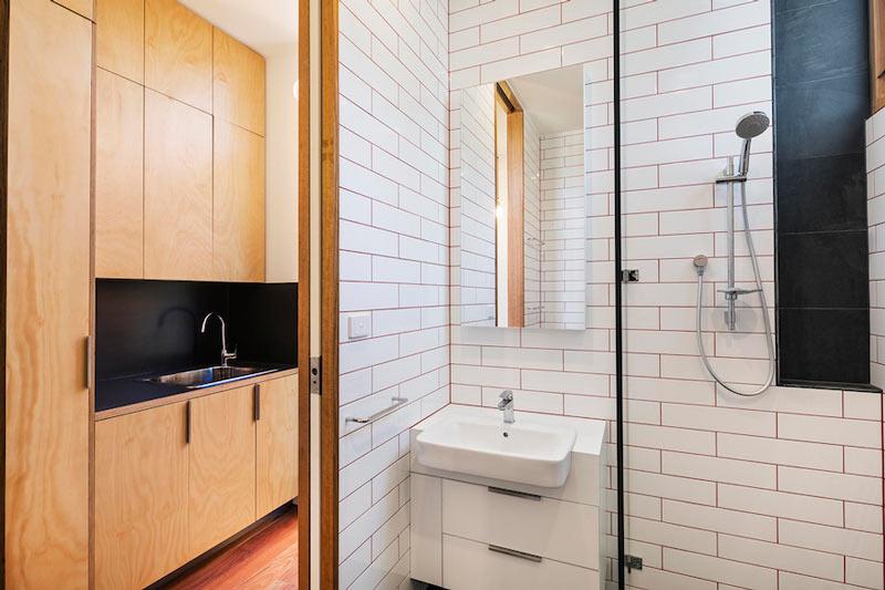 LightHouse - пляжный дом в Австралии, душевая комната