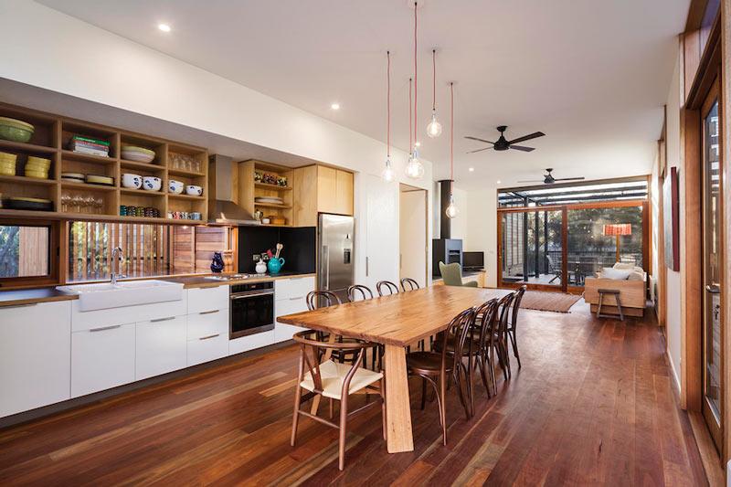 LightHouse - пляжный дом в Австралии, кухня-столовая