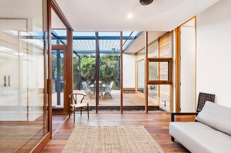 LightHouse - пляжный дом в Австралии, гостиная
