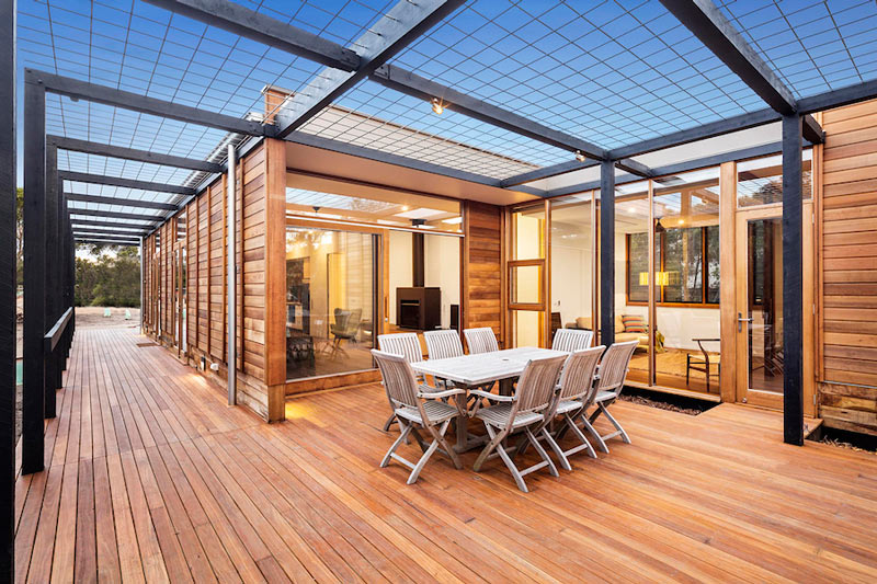 LightHouse - пляжный дом в Австралии, терраса