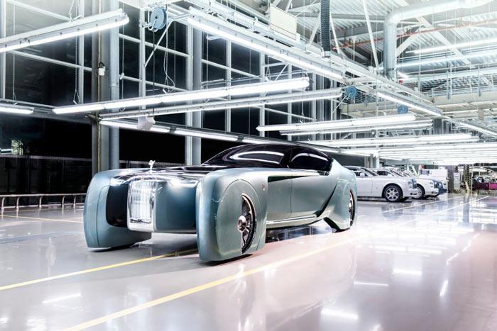 Концепт Rolls-Royce 103EX, вид спереди слева
