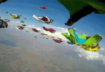 61 Wingsuiters setting a new world record