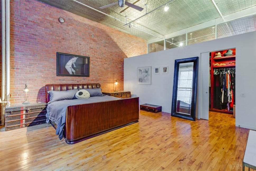 Bedroom of Adam Levine's Rockstar Bachelor Loft in New York