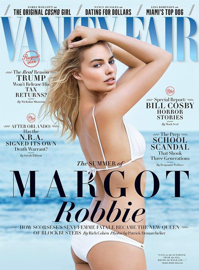 Марго Робби на обложке августовского выпуска Vanity Fair Magazine