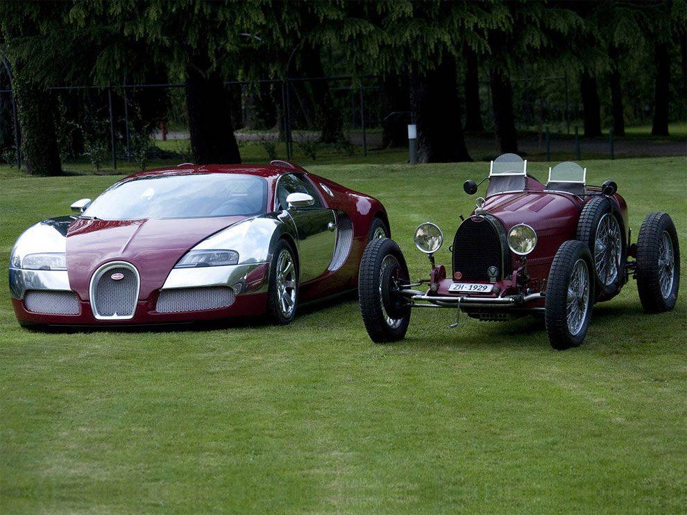 Classic Bugatti Vs. Their Modern Version Bugatti Chiron