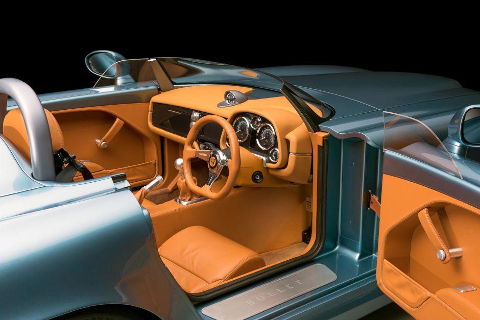 Bristol Bullet roadster. Interior