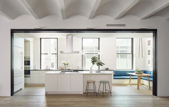 Kitchen in the Lafayette Loft by Lang Architecture, New York