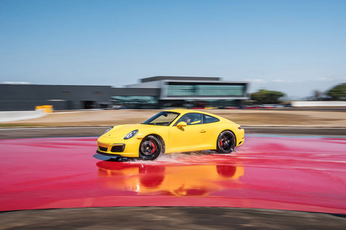 Test drive in Porsche Experience Center in California