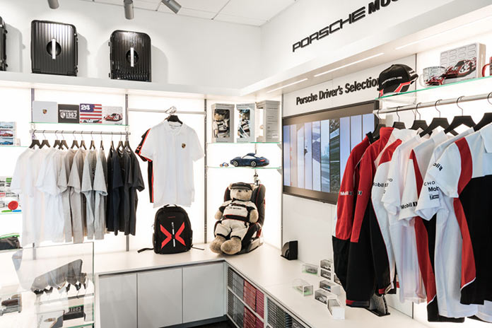 Driver's shop in Porsche Experience Center in California