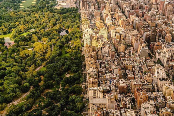 Вид на центральный парк, Нью-Йорк с высоты, фото Джорджа МакКинзи младшего