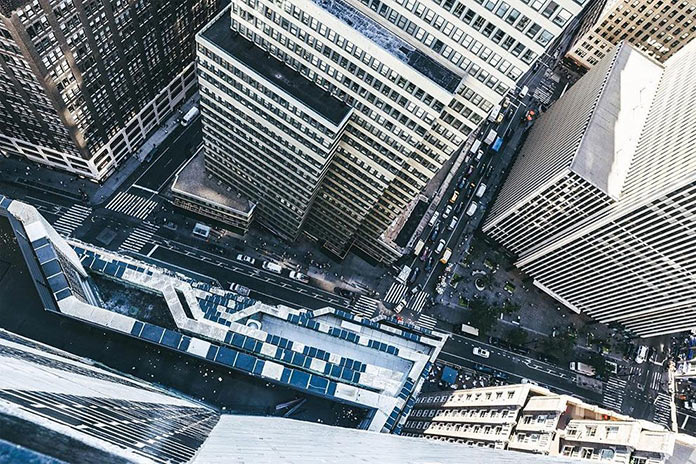 Нью-Йорк с высоты, фото Джорджа МакКинзи младшего