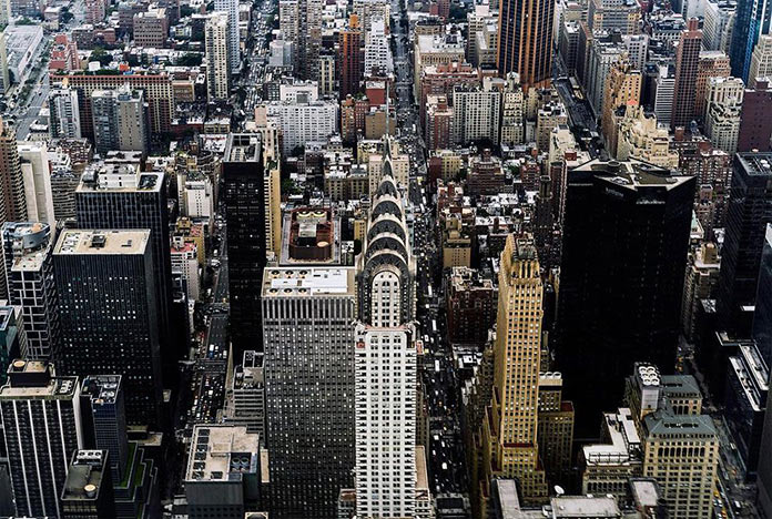 Манхэттен, Нью-Йорк с высоты, фото Джорджа МакКинзи младшего