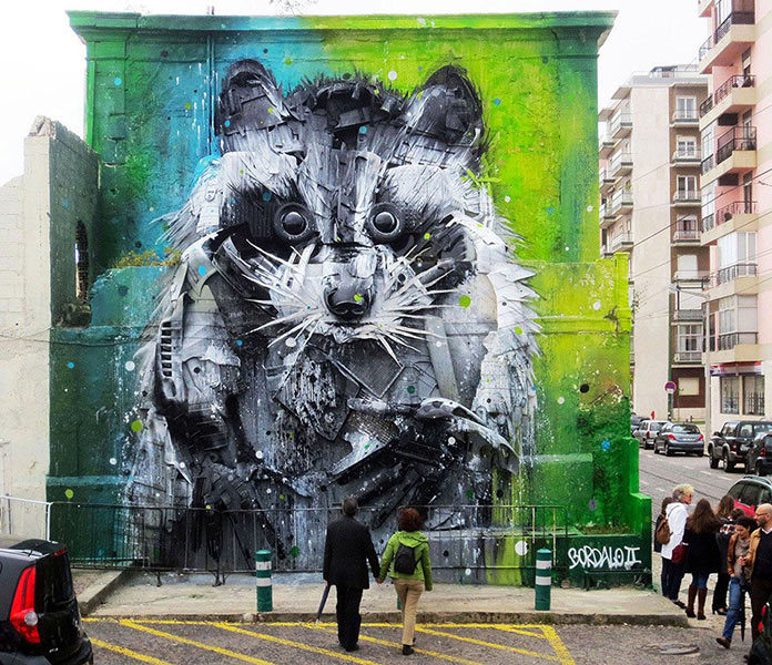 Trash Animal Street Art Bordalo-II