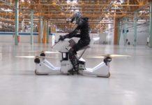 В Москве испытали первый в мире ховербайк, летающий мотоцикл