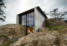 The Pierre. Стильный дом встроенный в скалу на островах Сан-Хуан