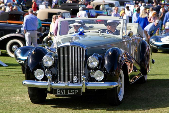 Bespoke Bentley coachwork on an early example convertible
