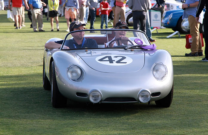 An original Porsche 718 which gave its name to the current 718 Boxster