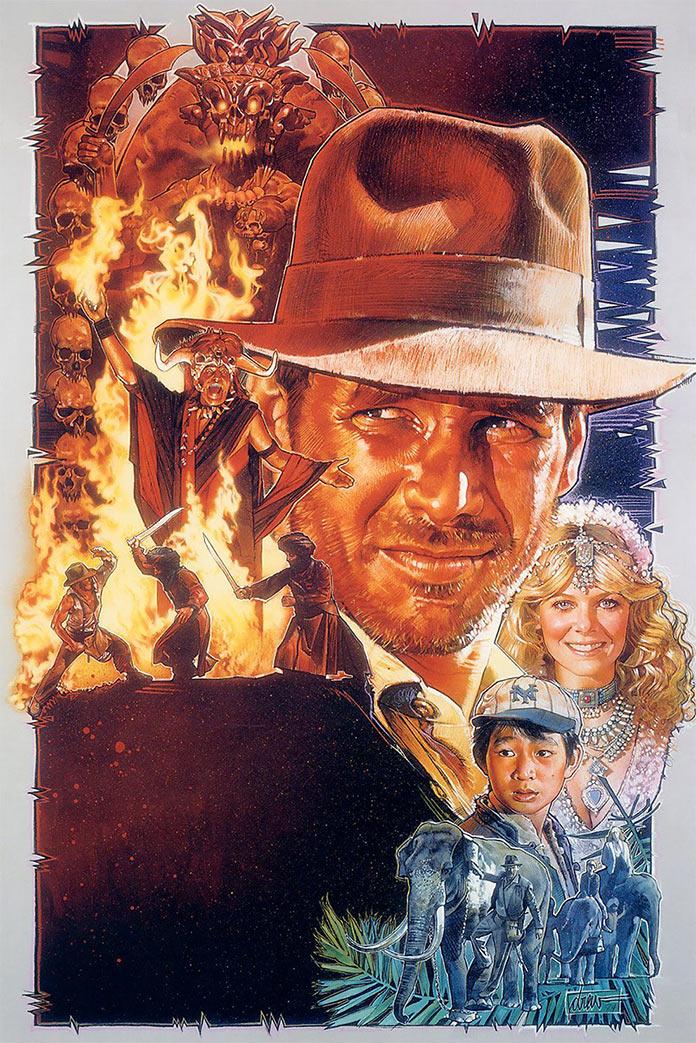 Индиана Джонс и Храм судьбы, 1984, кинопостер без текста