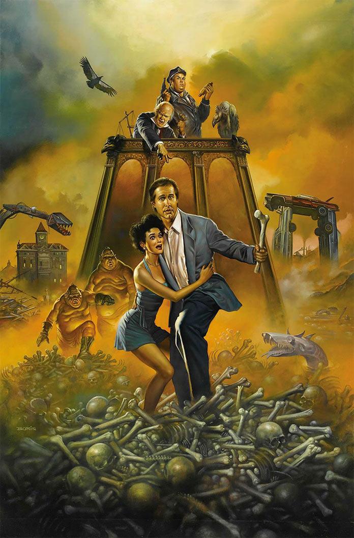 Сплошные неприятности, 1991, кинопостер без текста
