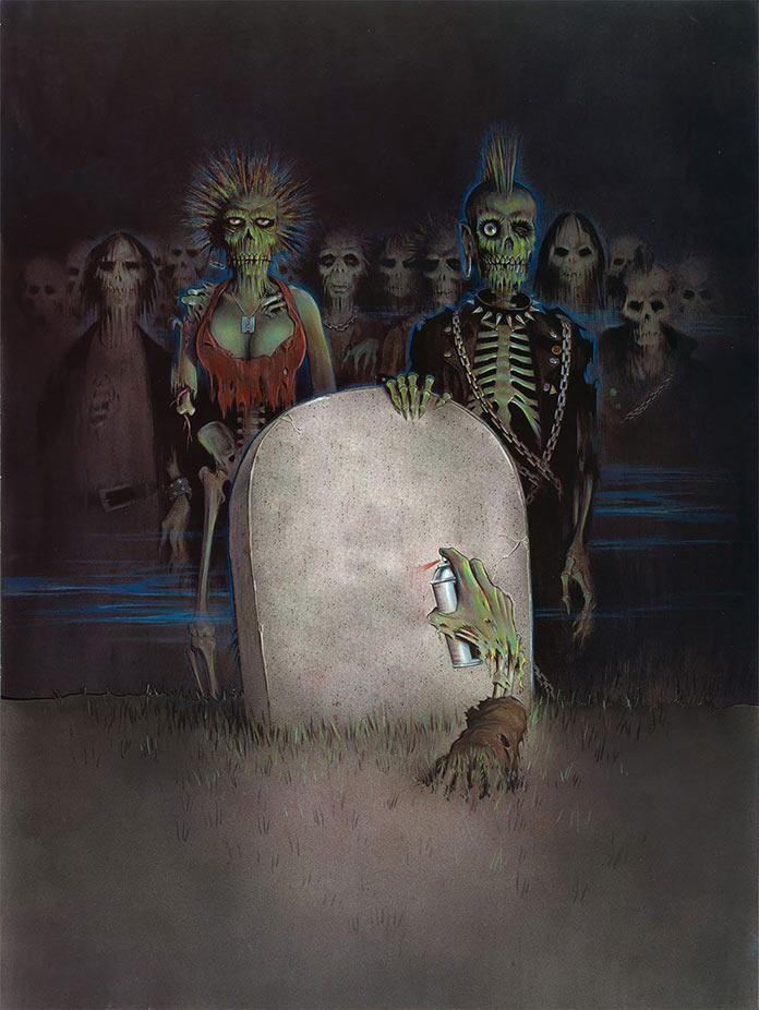 Возвращение живых мертвецов, 1984, кинопостер без текста