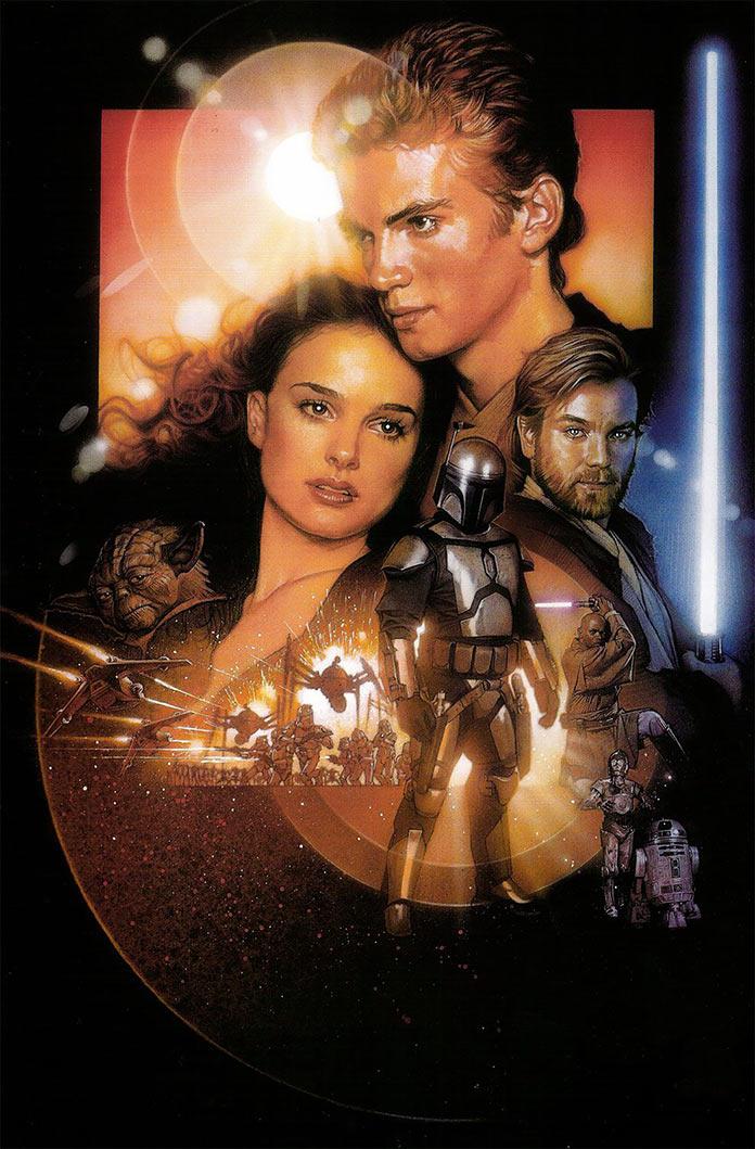 Звёздные войны: Эпизод 2 – Атака клонов, 2002, кинопостер без текста