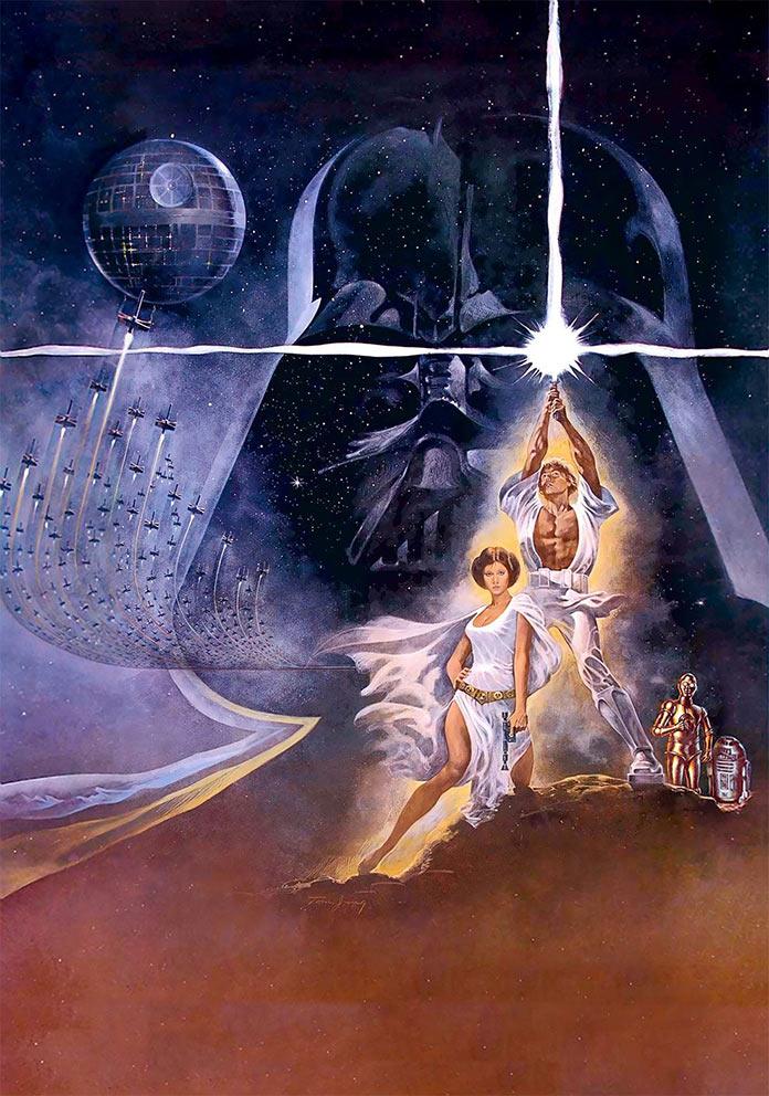Звёздные войны: Эпизод 4 – Новая надежда, 1977, кинопостер без текста