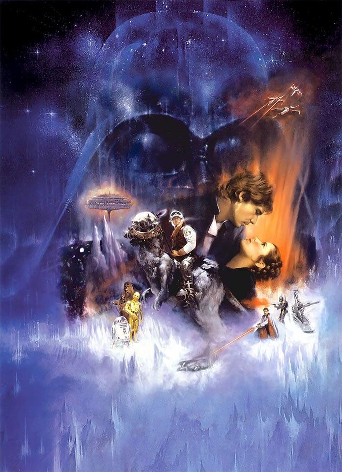 Звёздные войны: Эпизод 5 – Империя наносит ответный удар, 1980, кинопостер без текста