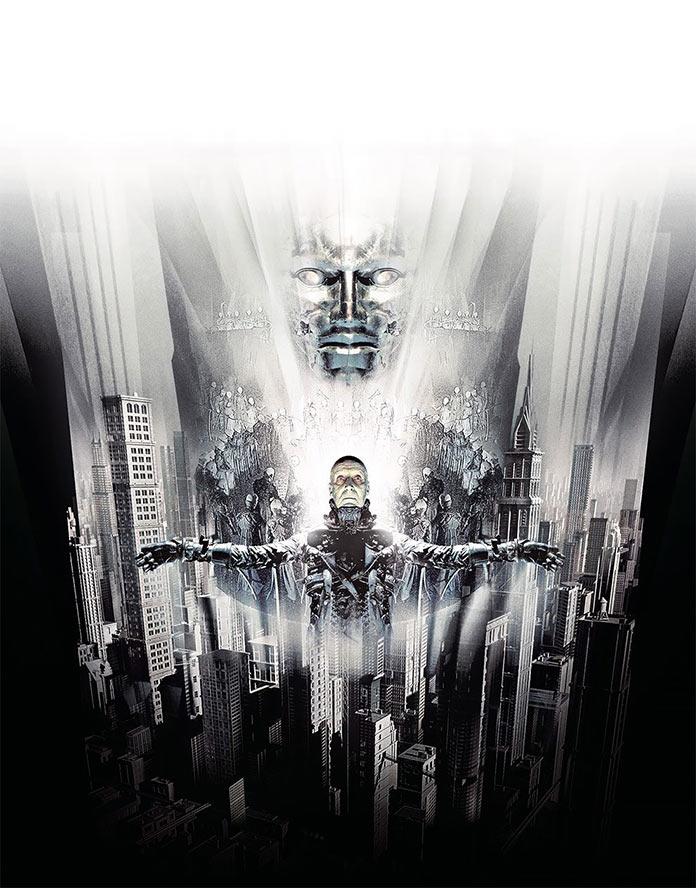 Тёмный город, 1998, кинопостер без текста