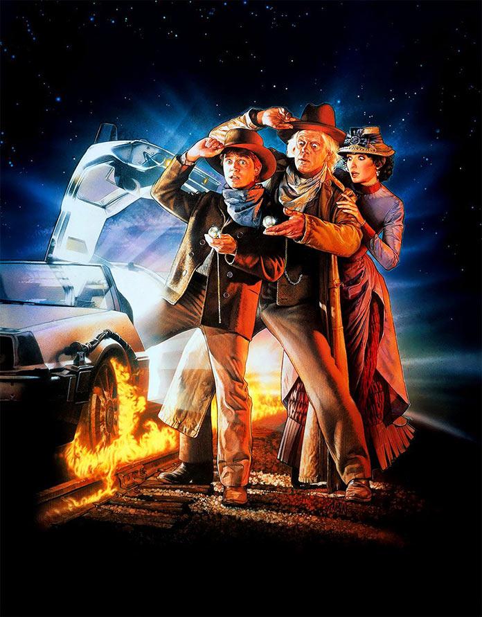 Назад в будущее III, 1990, кинопостер без текста
