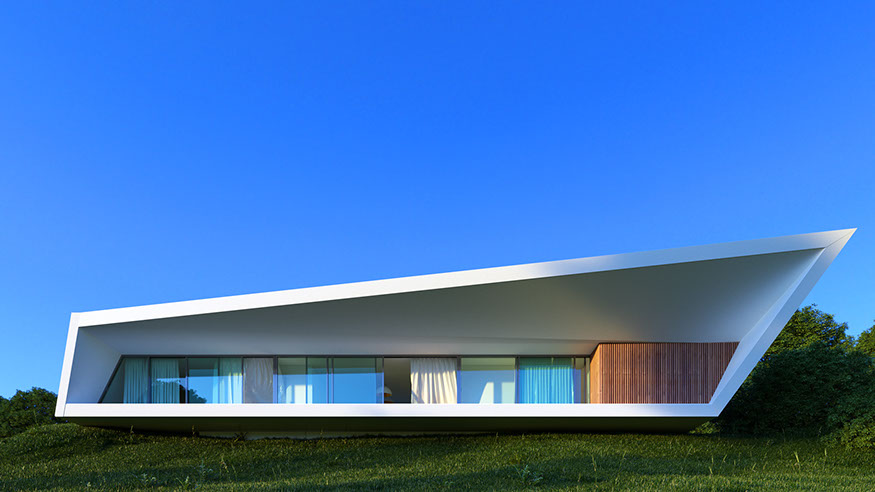 Минималистичная архитектура дома White Line от дизайнеров Nravil Architects в Казахстане, Алматы