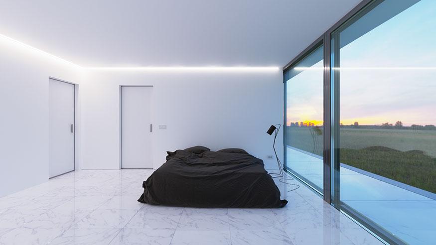 Минималистичный интерьер дома White Line от дизайнеров Nravil Architects в Казахстане, Алматы