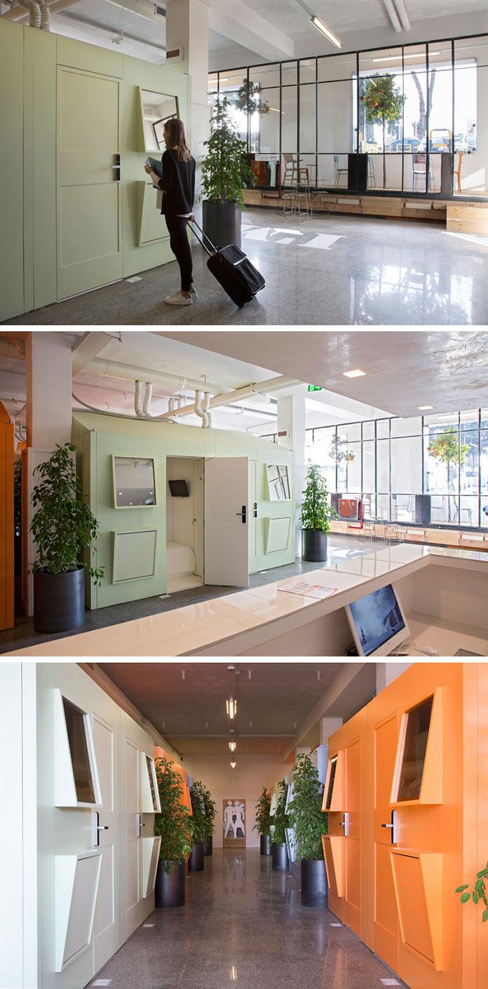 Дизайн интерьера. Капсульный отель Bed&Boarding в аэропорту Неаполя