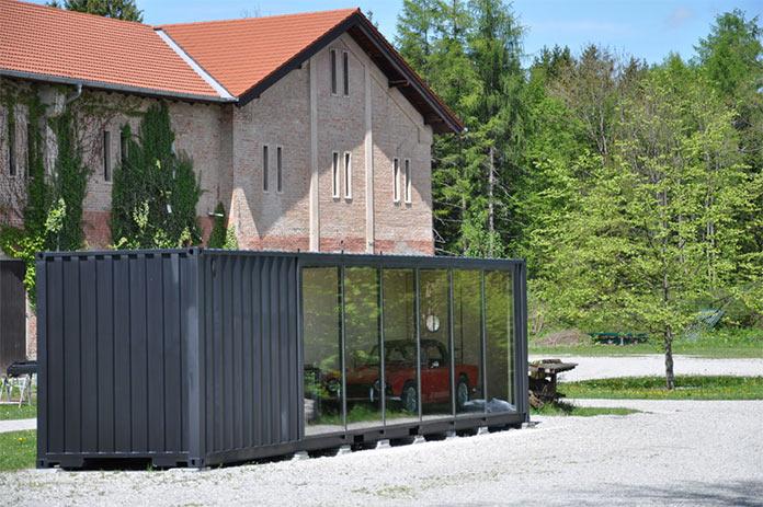 Мини-дом, мужской уголок из транспортного контейнера