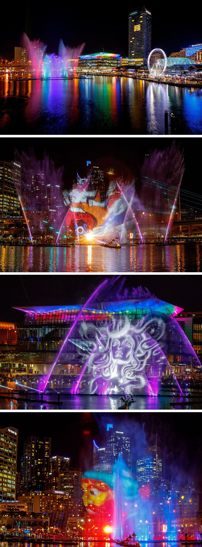 Installations and Projections of the Vivid Sydney Light Festival 2017