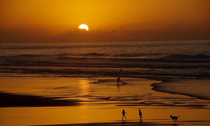 Марокко, закат на побережье