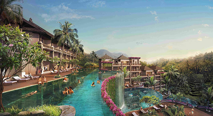 Бали, Убуд, спа, отель, бассейн