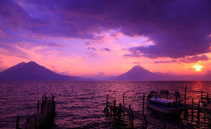 Гватемала, закат на побережье