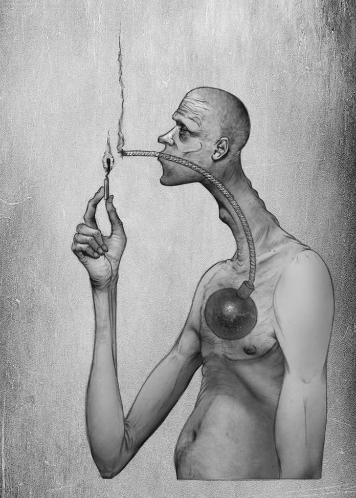Вредные привычки. Современное общество в иллюстрациях Аль Мархин
