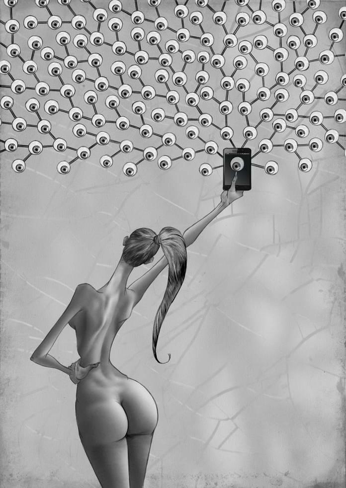 Женский нарциссизм и самолюбование. Современное общество в иллюстрациях Аль Мархин