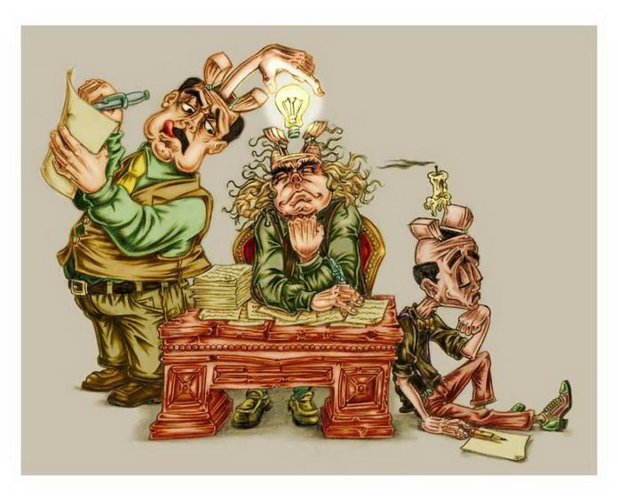 Кража идей. Современное общество в иллюстрациях Аль Мархин