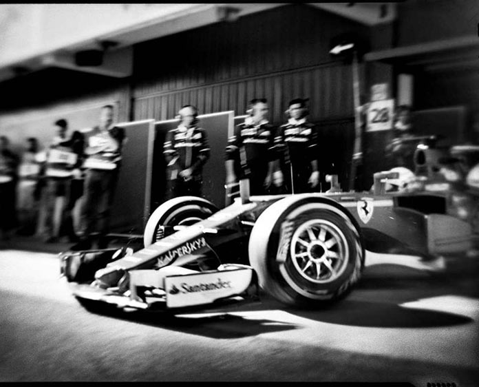 Формула-1, фото на старинную камеру, Джошуа Пол