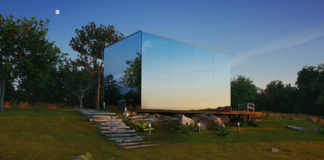 Модульный мини-дом с зеркальными окнами для себя или для бизнеса