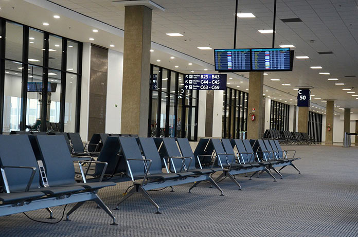 Зона посадки в аэропорту